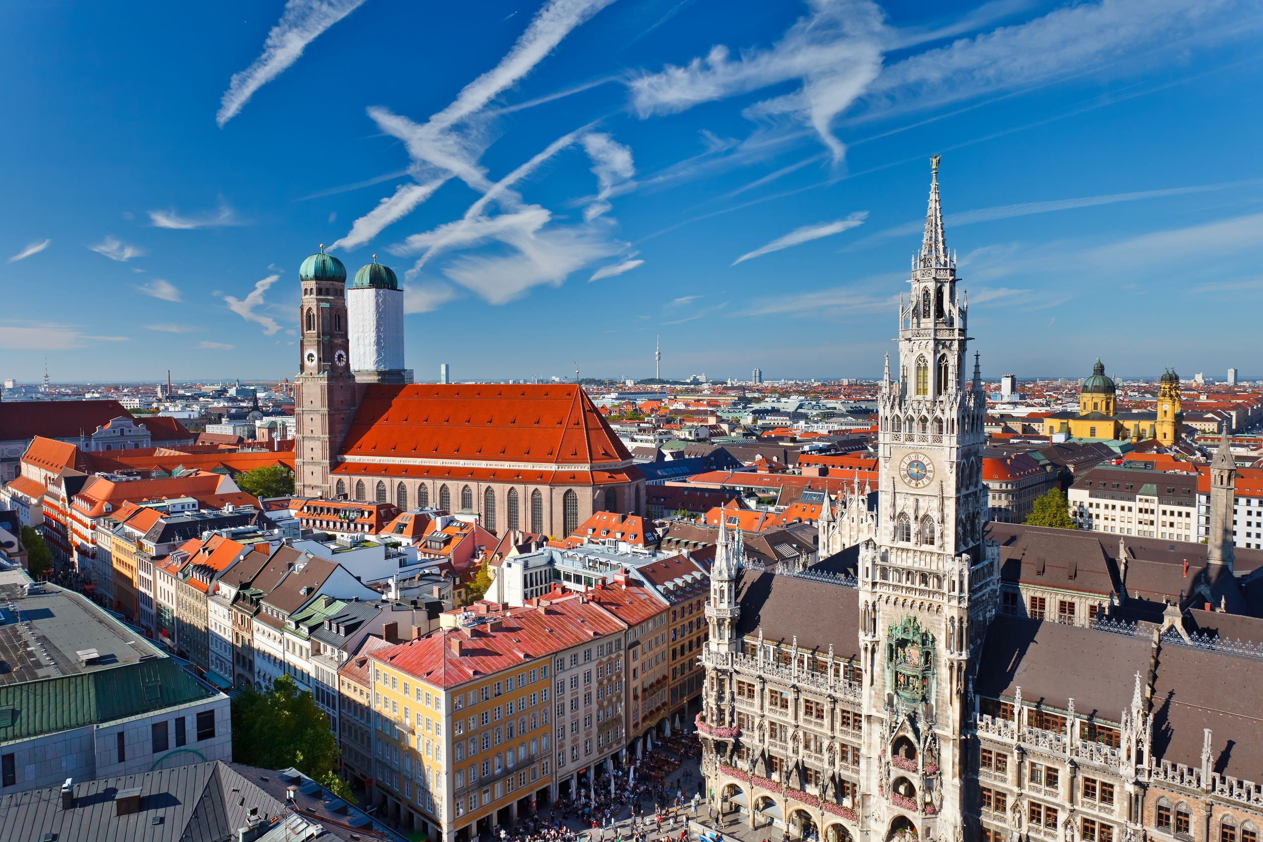View over the city of Munich, 2013